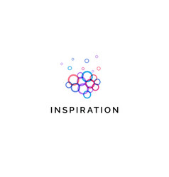 inspiration icon colorful circles bubbles in vector image
