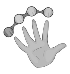 Knuckles with hand icon black monochrome style vector image