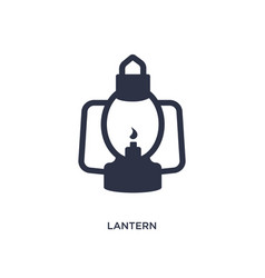 Lantern icon on white background simple element vector