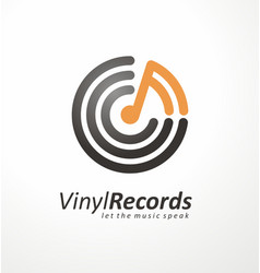 logo design idea for music store or vinyl records vector image