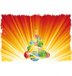 magic Christmas tree vector image