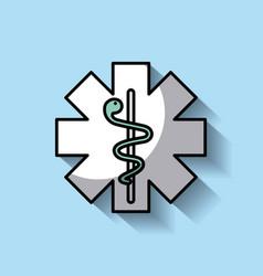 Medicine emblem with snake vector