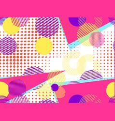 memphis seamless pattern pop art dotted vector image