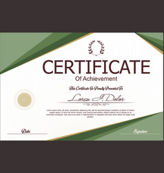 Modern certificate or diploma template 6 vector