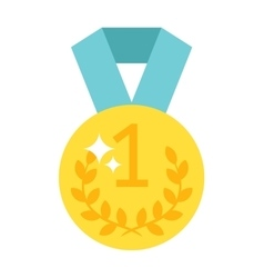 One number medal vector