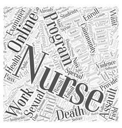 Online forensic nursing program word cloud concept vector