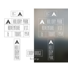 Outdoor travel and camping Collection of minimal vector