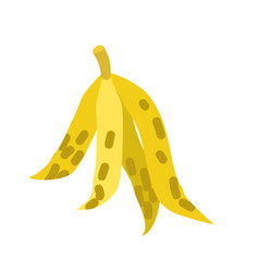 Peel banana isolated trash garbage white vector