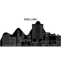 Peru lima architecture city skyline vector
