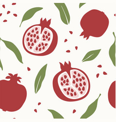 Pomegranate design abstract seamless pattern vector