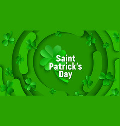 saint patricks day holiday green shamrock vector image