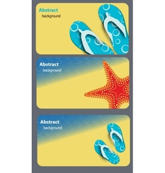 sandals and starfish at beach nature summer vector image