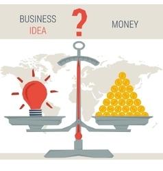scales - idea or money vector image