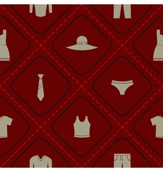 seamless background with clothes for your design vector image
