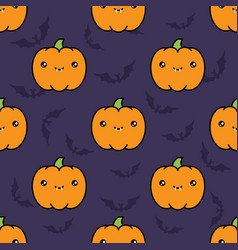 Seamless halloween pattern background with vector