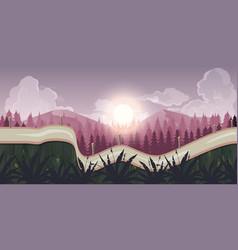 seamless morning landscape never ending vector image