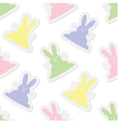 Seamless pastel colors bunnies vector