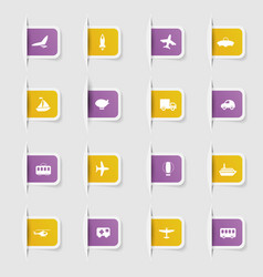 Set a collection unique paper stickers vector