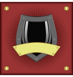 Shield on a red background vector image