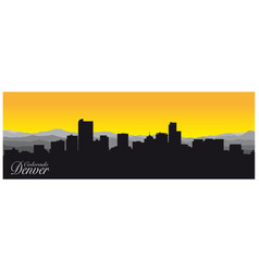 silhouette denver capital colorado vector image