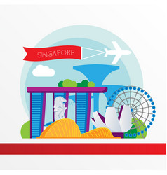 Singapore detailed silhouette trendy vector