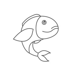 Sketch silhouette of bass fish vector