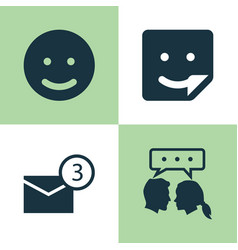 Social icons set collection of chat smile vector