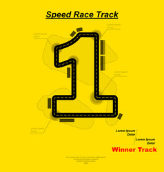 Speed winner track vector