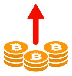 Spend bitcoin coins flat icon vector
