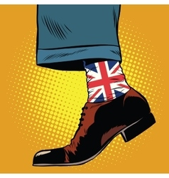 Stylish hipster socks with the British flag vector