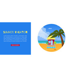summer vacation holiday design vector image