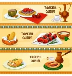 Turkish cuisine banners for restaurant menu design vector