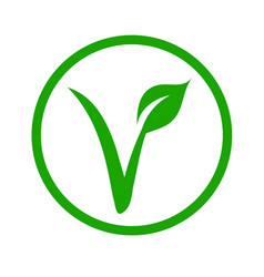 Universal vegetarian symbol- the v-label vector