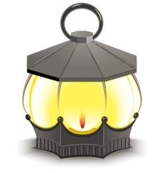 Vintage Street Lamp Glowing lantern vector