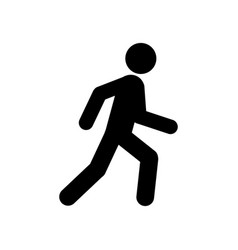 Walking man symbol pedestrian icon vector