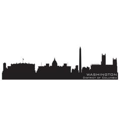 Washington district columbia skyline detailed s vector