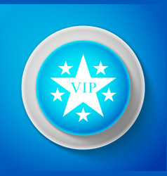 white star vip with circle of stars icon isolated vector image