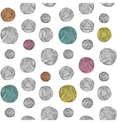 Yarn skeins seamless background vector image