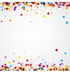 Background with color rhombs vector image