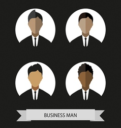 Businessman profiles icons flat style Digital imag vector image vector image