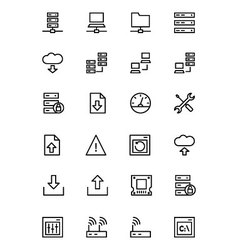 Database and Server Line Icons 1 vector image