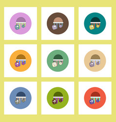 Flat icons halloween set of bloody jelly and vector