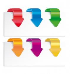 Set of colorful arrows vector