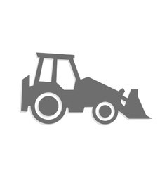 tractor icon and symbol vector image vector image