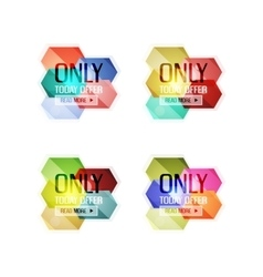 abstract geometric sale labels vector image