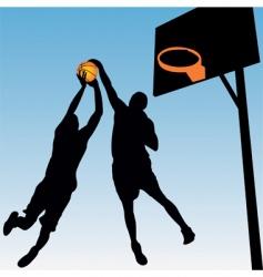 basketball players vector image vector image
