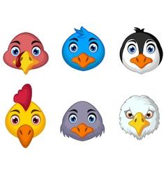 bird head cartoon vector image vector image