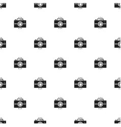 photo camera retro seamless pattern print vector image