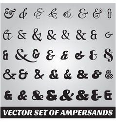 set of ampersands from different fonts vector image vector image