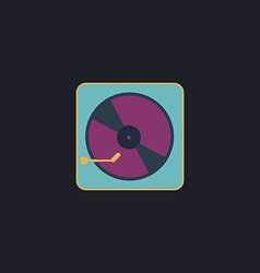 Vinyl turntable computer symbol vector image vector image